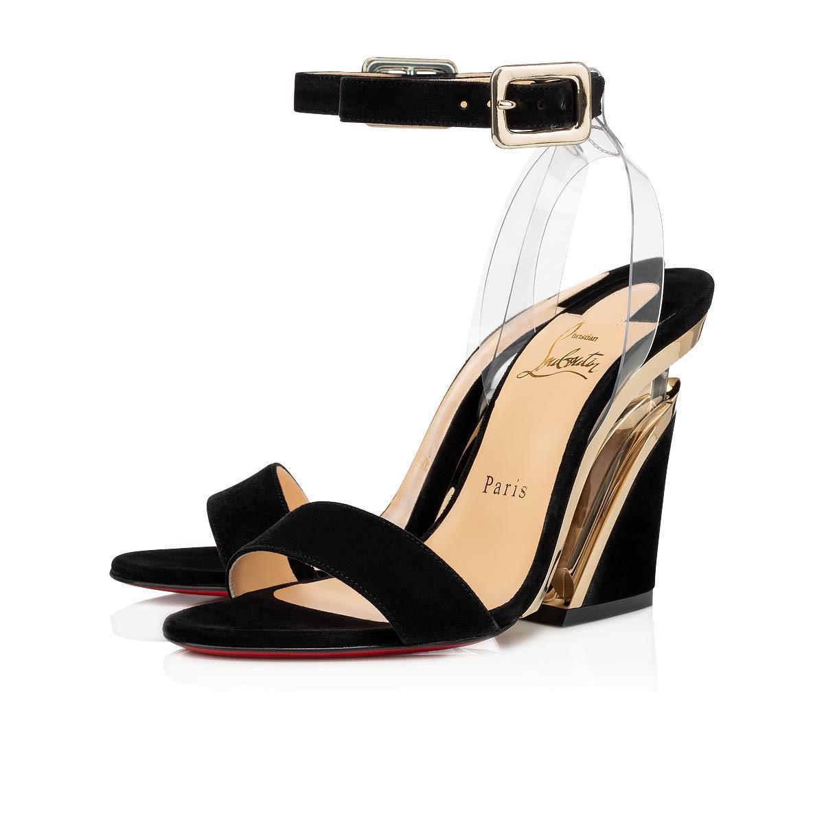Levitalo露趾繫帶高跟涼鞋。NT$32,700。(Christian Louboutin提供)