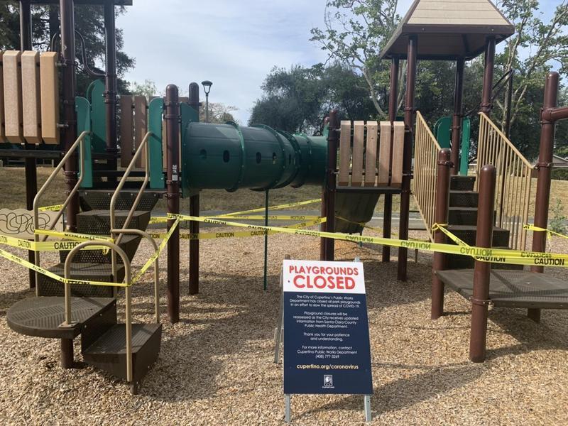 在居家避疫時期,很多城市連公園都關閉,南灣聖塔克拉克縣維持公園開放,但是關閉兒童遊樂場等公共設施。