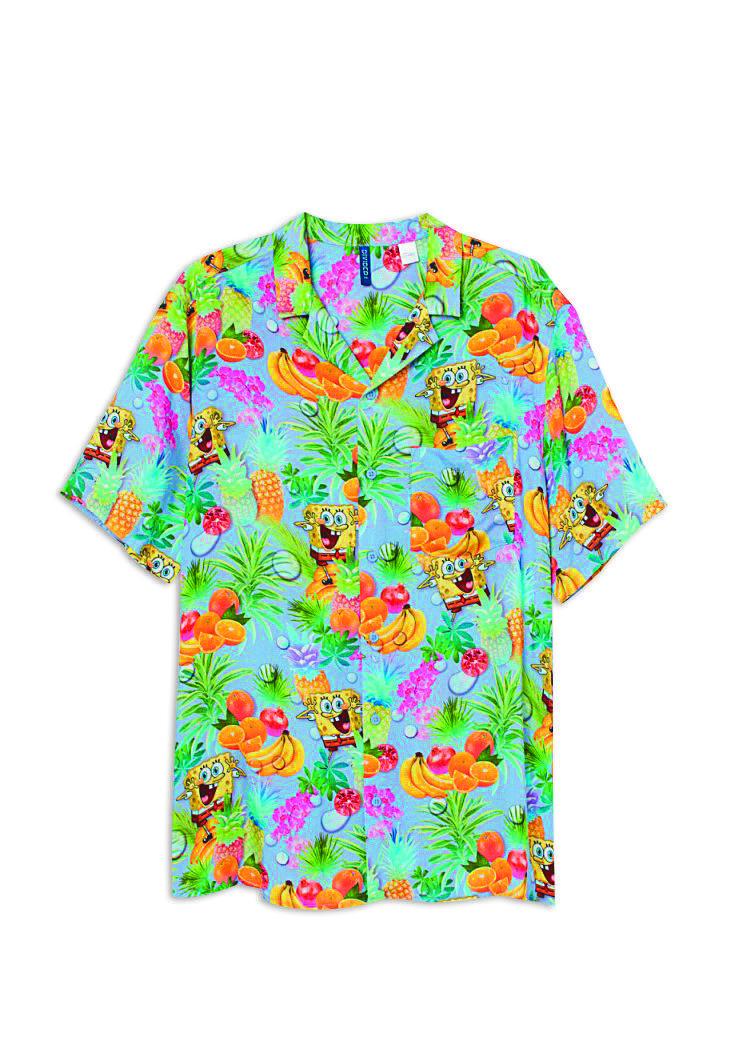 海綿寶寶夏威夷衫NT$699。(H&M提供)