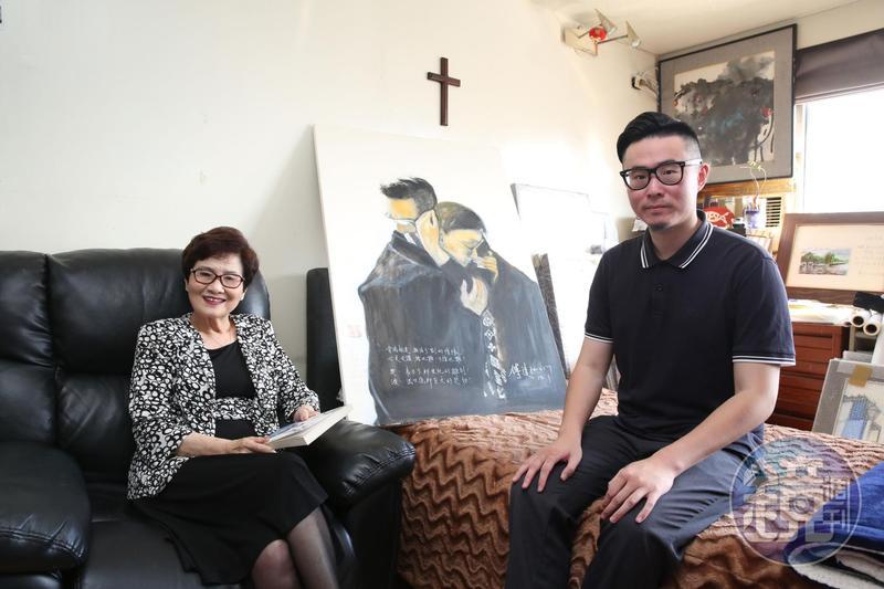 鄭貽(左)和傅俊豪(右)母子花了很多時間才接受傅達仁選擇安樂死,對於可能的法律責任也事先考慮過,決定承擔。