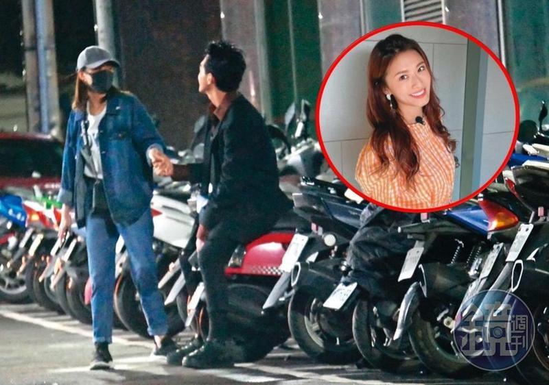 謝睿宸(右)花名在外,2018年被拍到與現任女友妞妞(左)在暗巷親熱,而妞妞更為了他狠甩小鬼黃鴻升。