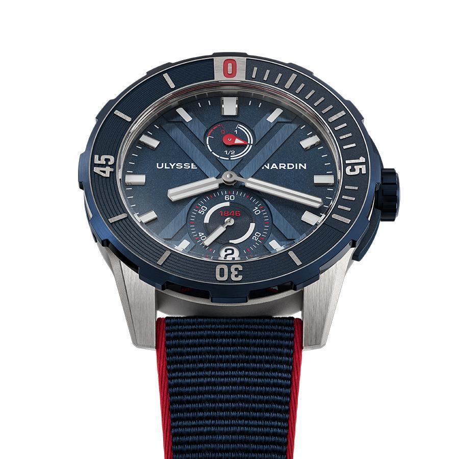 Diver X尼莫點錶款 | 錶徑44mm/鈦金屬錶殼/UN-118自動上鍊機芯/時間、日期與動力儲存指示/防水300米/限量300只/建議售價NT$ 294,200