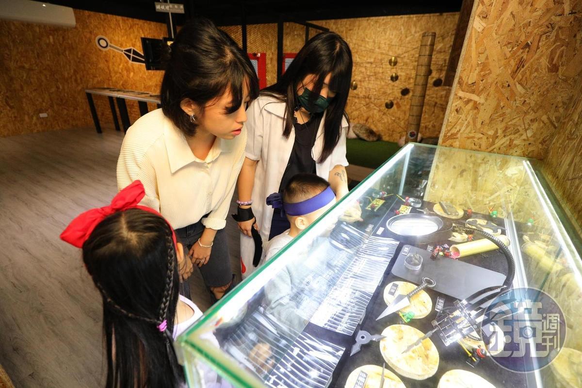 館內收藏日本忍者各式兵器。
