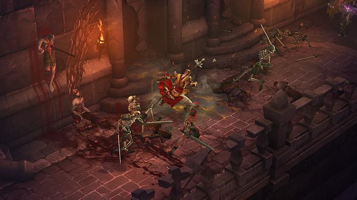 由 Blizzard North 設計的早期背景設計。(翻攝 Oscar Cuesta 作品集)