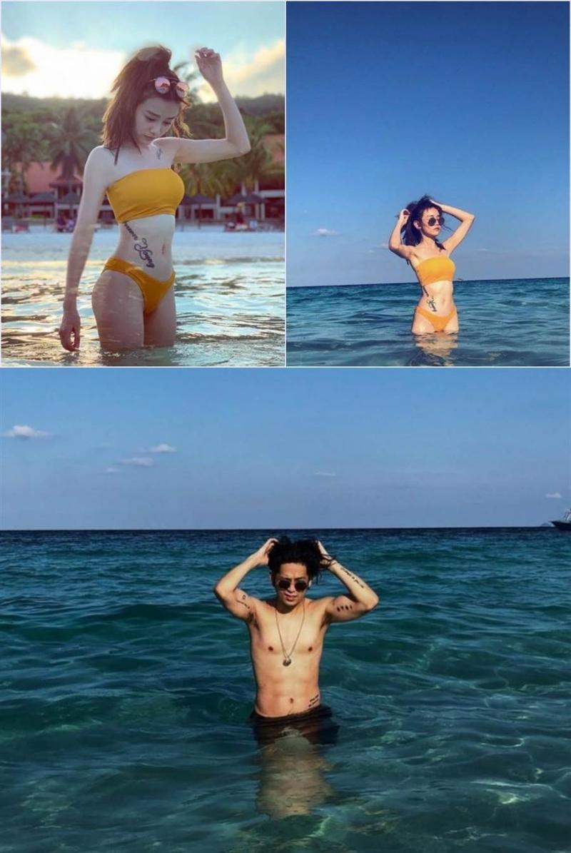 去年5月,何戀慈與陳希騰被網友爆在海島約會,兩人並未承認交往。(網路圖片)