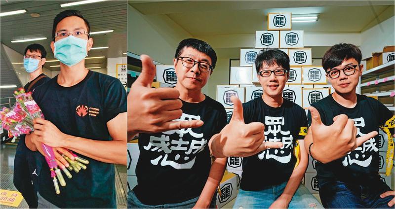 發起高雄市長韓國瑜罷免案的「罷韓四君子」李佾潔(左起)、尹立、陳冠榮、張博洋接受本刊專訪,提出罷韓關鍵在投票率。(左圖翻攝公民割草行動臉書)