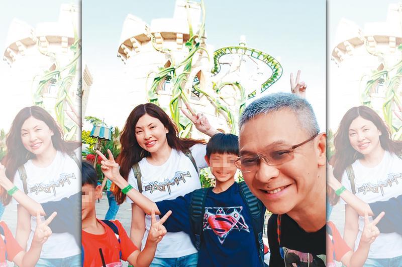 王敏錡(右一)與何如芸(左二)結婚16年,育有2子,如今婚姻面臨破局。(翻攝自何如芸臉書)