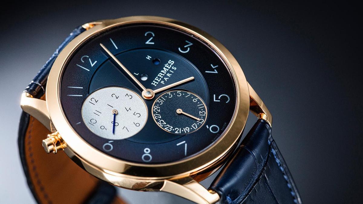 錶徑39.5mm、玫瑰金材質、H1950自動上鏈機芯、時間及日期指示、第二地時間及日夜指示、防水30米、建議售價NT$ 663,500(攝影:游銘元)