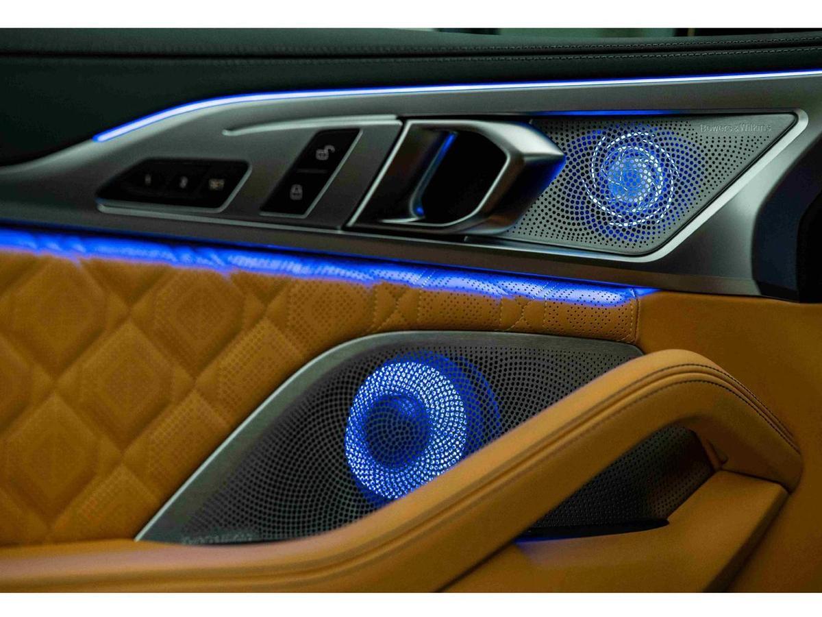 Bowers & Wilkins鑽石高傳真音響系統,頂級出色的16支揚聲器傳遞出清透的超凡音質。