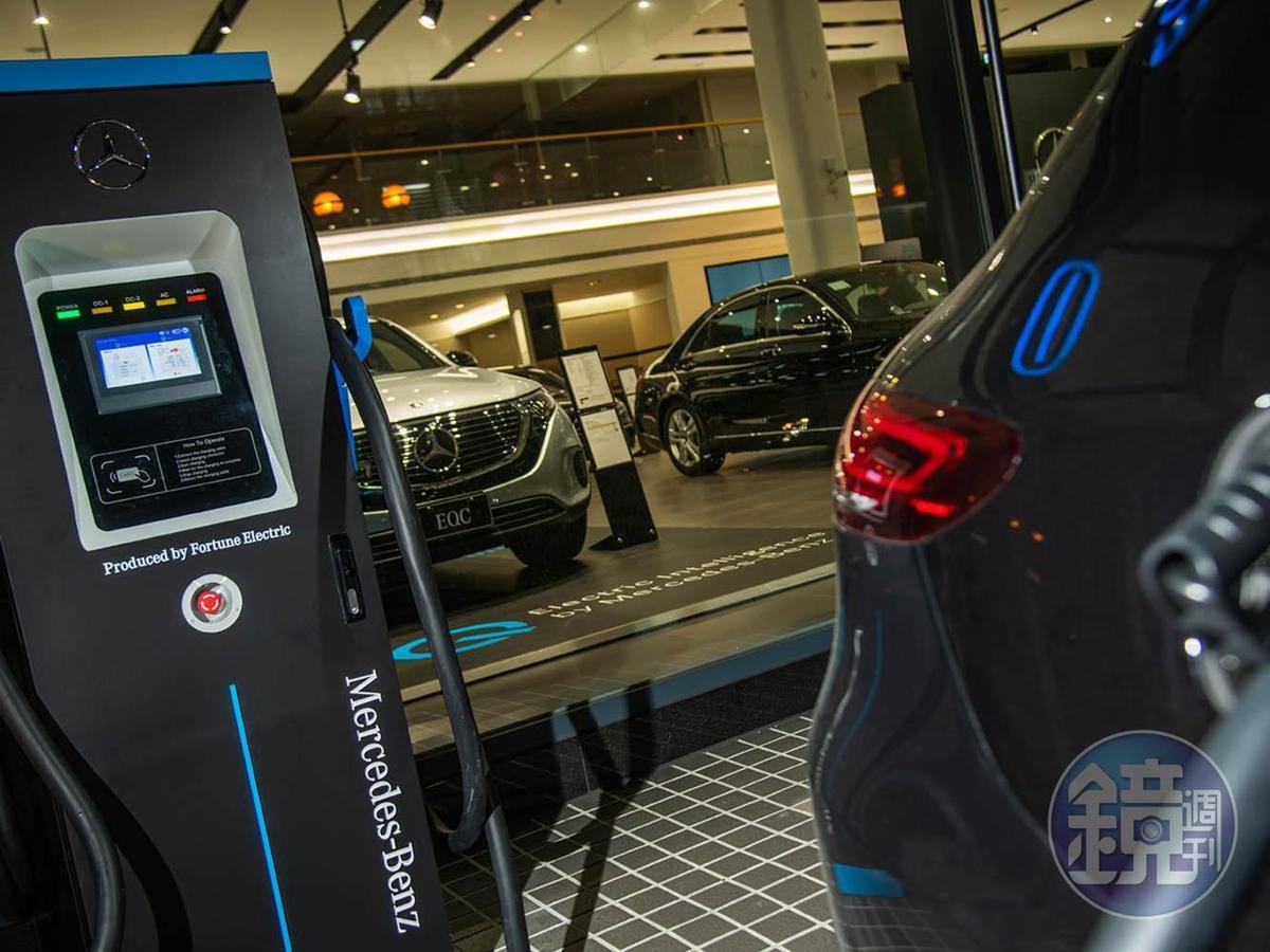 目前位於中和還有關渡的展示中心有設立超充設施。