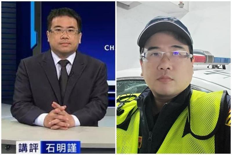 台北市交通警察石明謹為知名足球球評,社群媒體有破3萬粉絲追蹤。(翻攝自石明謹臉書)