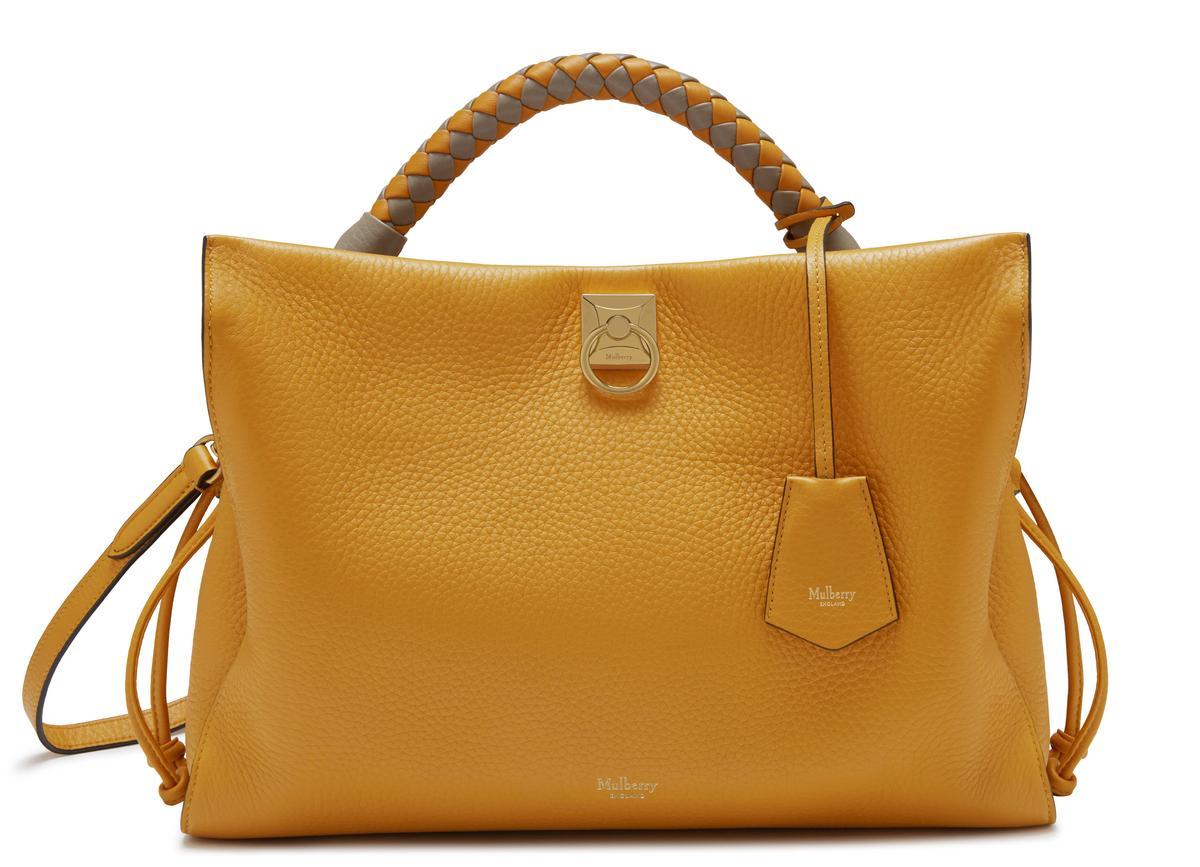 橘色Iris包款,NT$55,000。(Mulberry提供)