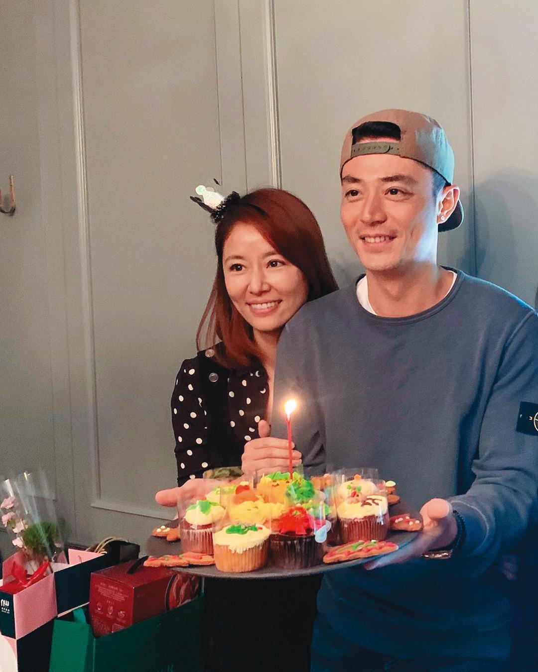 去年12月26日,林心如難得po出與霍建華的合照,並寫下:「Happy Birthday my dear⋯Love you 」,粉碎婚變傳言。(翻攝自林心如IG)