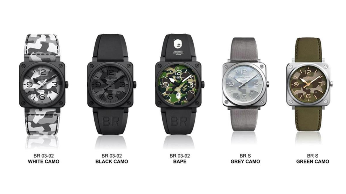 BELL & ROSS的迷彩家族成員不斷在擴編,目前來說算是同屬性品牌中,將迷彩主題錶款詮釋得最多元化的牌子。