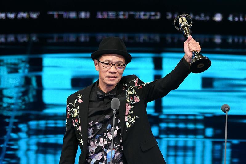 吳朋奉以公視人生劇展《第一響槍》榮獲迷你劇集(電視電影)男主角獎。(文化部提供)