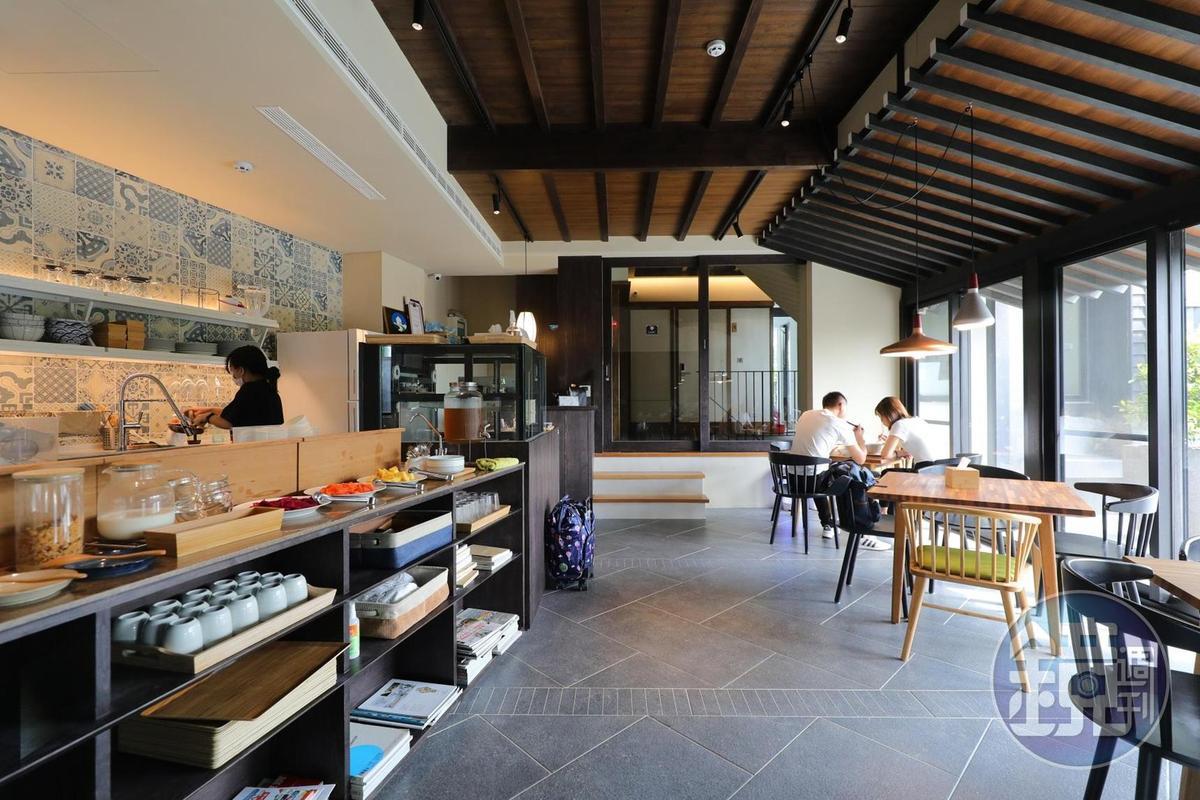 民宿內舒服的用餐環境。