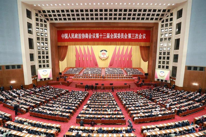 中國人大會通過港版國安法,美澳英加聯合聲明譴責。(翻攝自npc.gov.cn)