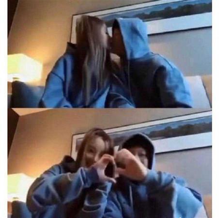 李小璐與丈夫好兄弟PG ONE親密影片曝光,在網路上瘋傳。(翻攝自微博)