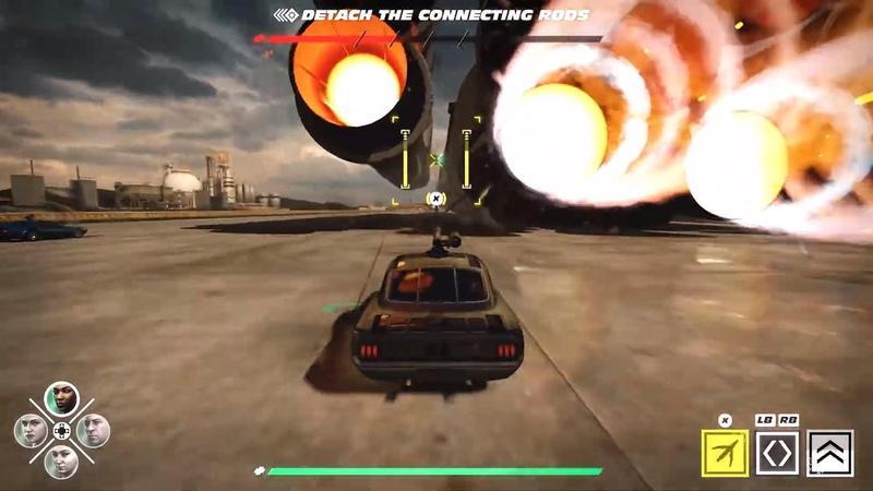 預計8月上市的《玩命關頭 十字路口》,使用電影主角群的模組,但預告中的遊戲畫質卻讓玩家不滿。(翻攝自PlayStation YouTube頻道)