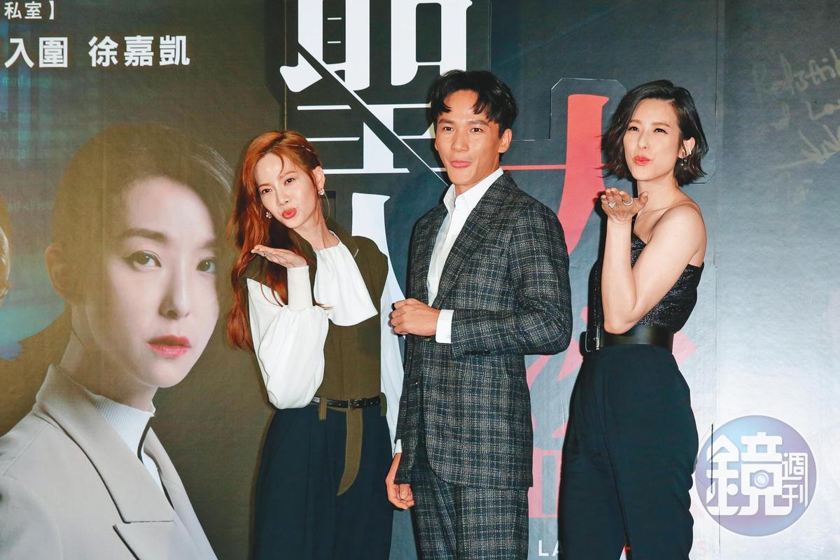 曾之喬(左)近年主攻戲劇,但她挖掘內心,發現自己最愛的是講話。右起賴雅妍、曹晏豪。