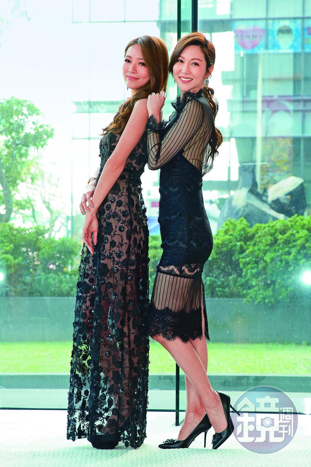 高宇蓁(左)自從拍完三立《金家好媳婦》之後,便未再接演本土劇。右為曾莞婷。