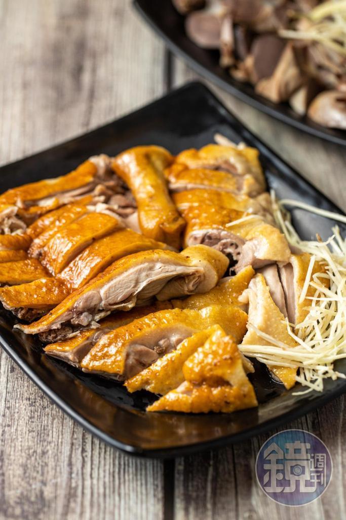「鴨肉(1/4隻)」甘潤,微帶煙燻味。(120元/份)