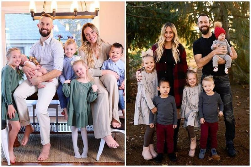 美國網紅媽媽米卡夫妻生了4個小孩,並領養了一名中國裔、有嚴重自閉症的小男童赫胥黎。(翻攝自mykastauffer IG)