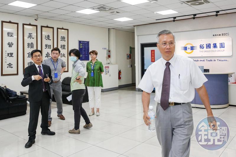 詹義郎是裕國董事長楊連發的妹婿,上週他帶領大批人馬,揚言要接管公司。