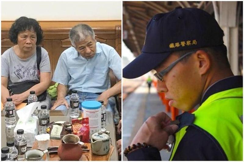鐵路警察李承翰遭鄭男刺殺殉職,李爸在一審判決後36天抑鬱身亡。(翻攝自畫面、NPA署長室臉書)