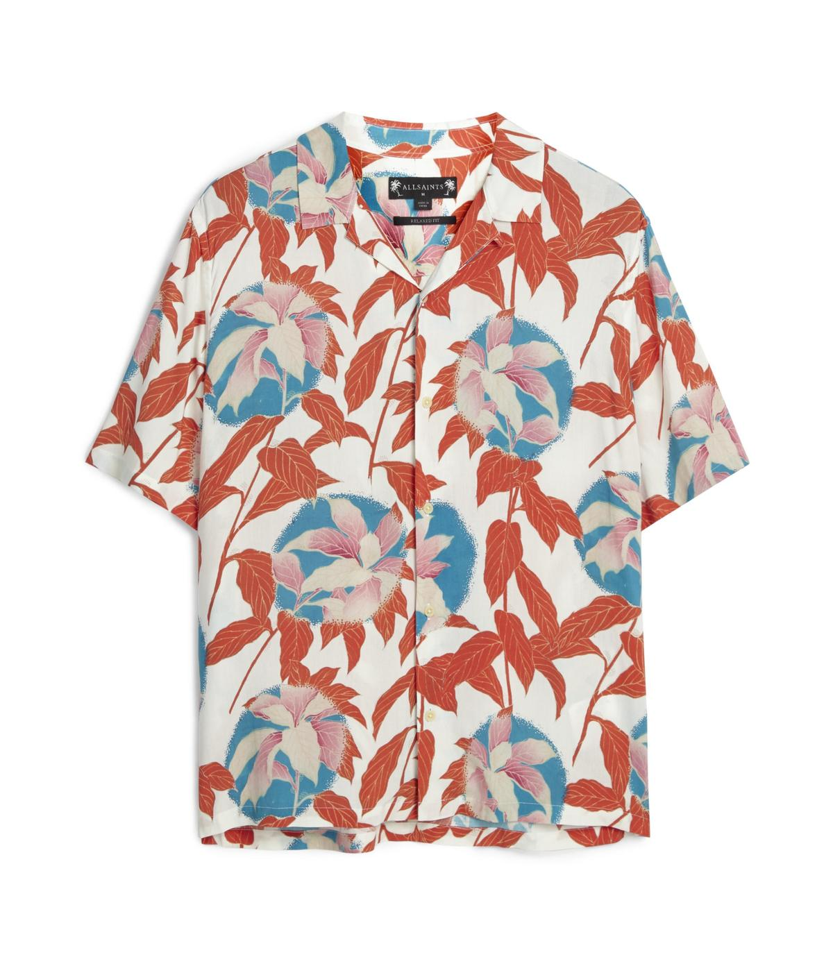 ALLSAINTS Vine紅葉印花襯衫。NT$4,800(ALLSAINTS提供)