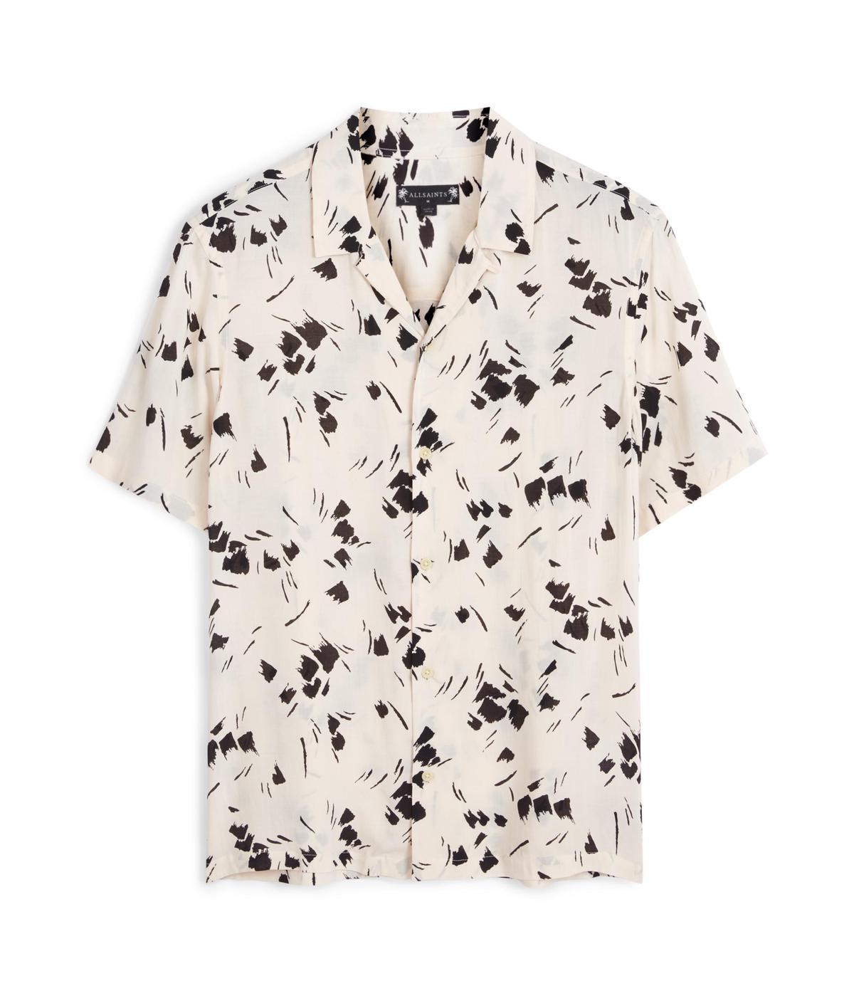 ALLSAINTS Borealis白底印花襯衫。NT$4,800(ALLSAINTS提供)