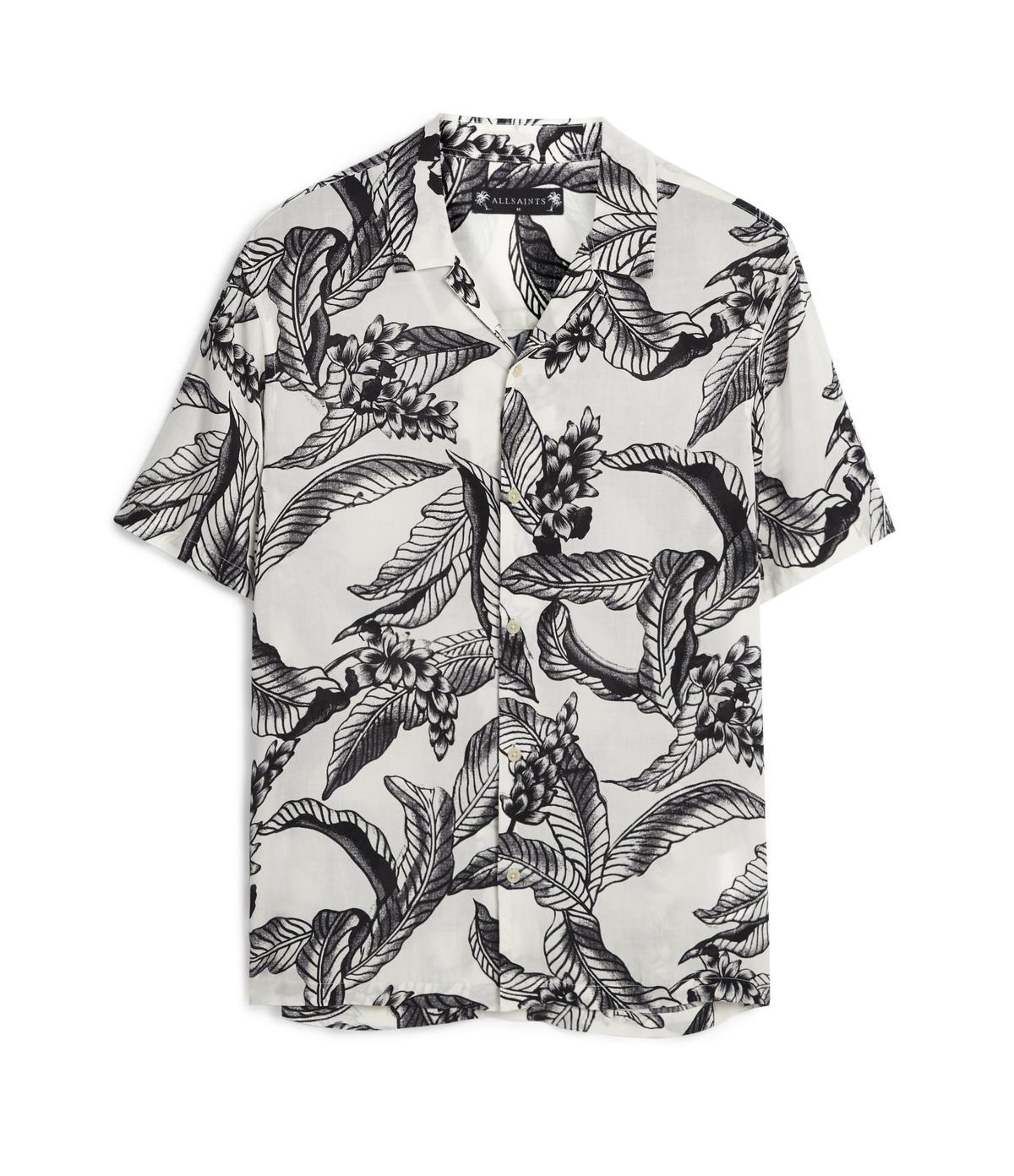 ALLSAINTS Kahuna白底印花襯衫。NT$4800(ALLSAINTS提供)