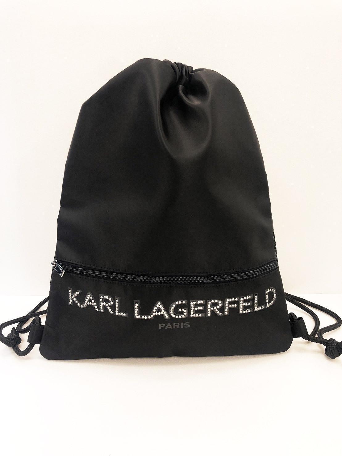 限量20個的亮鑽款KL運動尼龍束口背袋NT$3,280(Weng Collection提供)