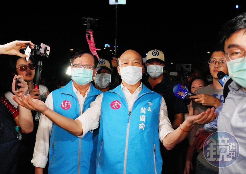 高雄市長韓國瑜(圖)遭罷免,李戡認為韓粉功不可沒。