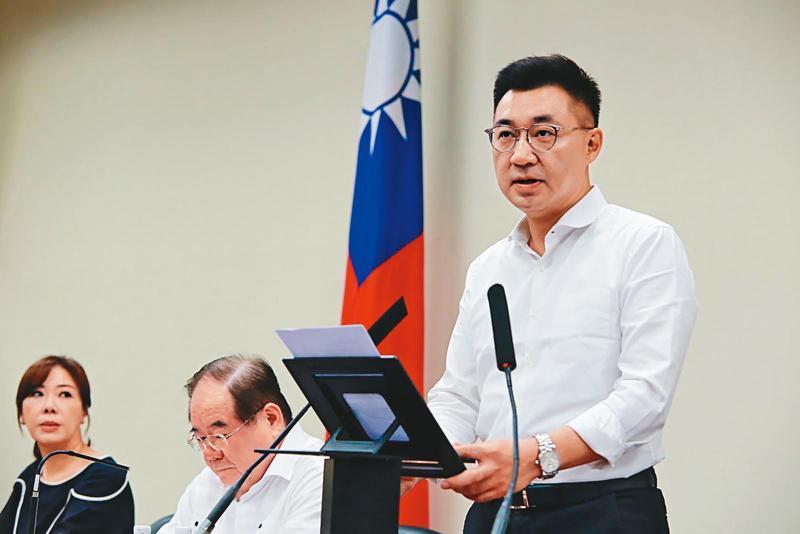 面對罷韓後藍營集體陷入低迷,江啟臣8日發表談話穩定軍心,也展現領導威望。(國民黨提供)