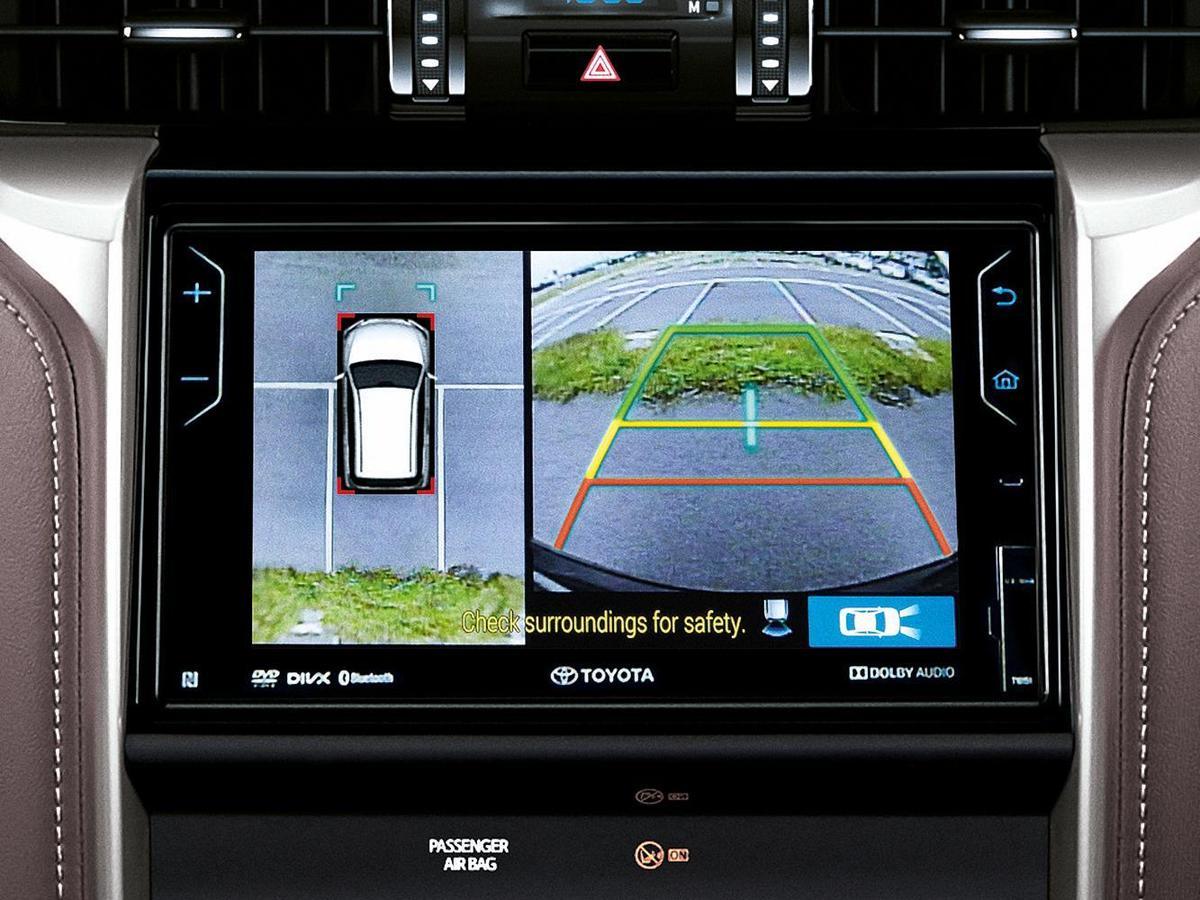 PVM(Panoramic View Monitor)環景影像系統的原理,是透過車子的四角鏡頭的拍攝畫面,經過魚眼校正後進行的影像拼接,構成鳥瞰環景影像。