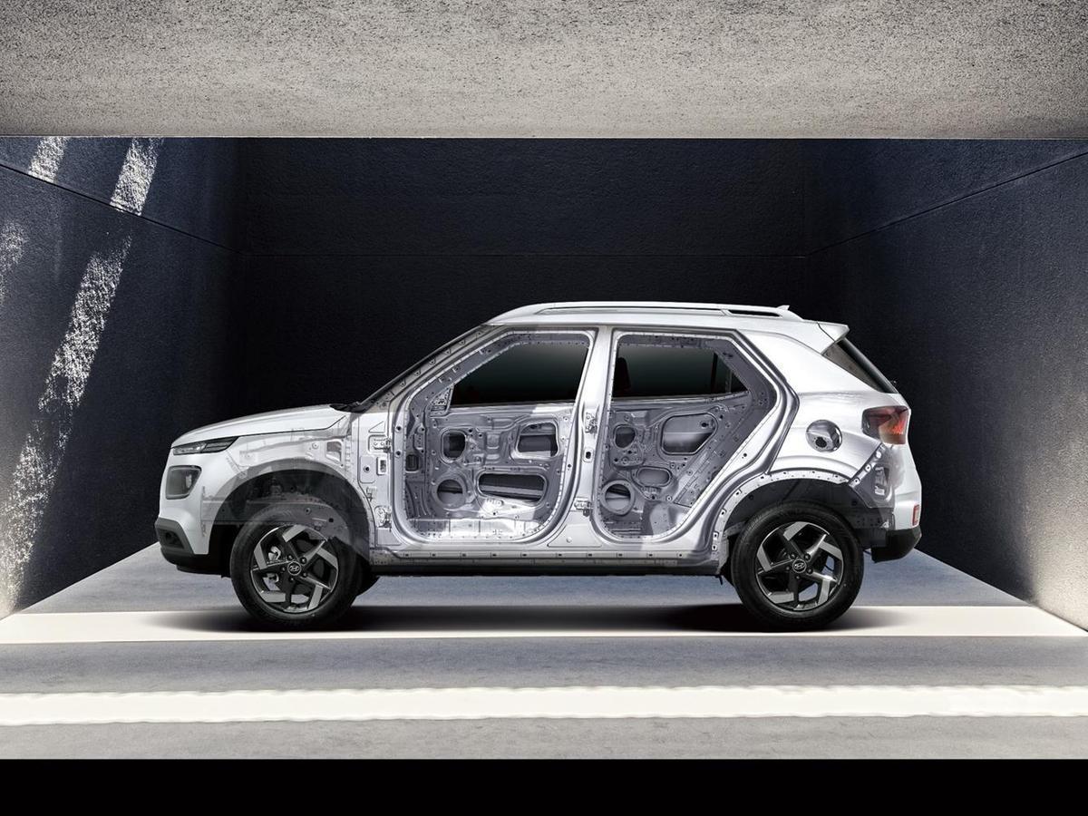 以62%HSS高剛性鋼材打造強硬車體。
