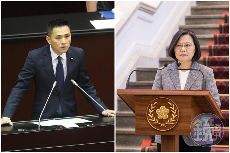 台灣對中國出口依賴創新高,陳以信(左)要蔡英文(又)為新南向政策的失敗負責。(本刊資料照)