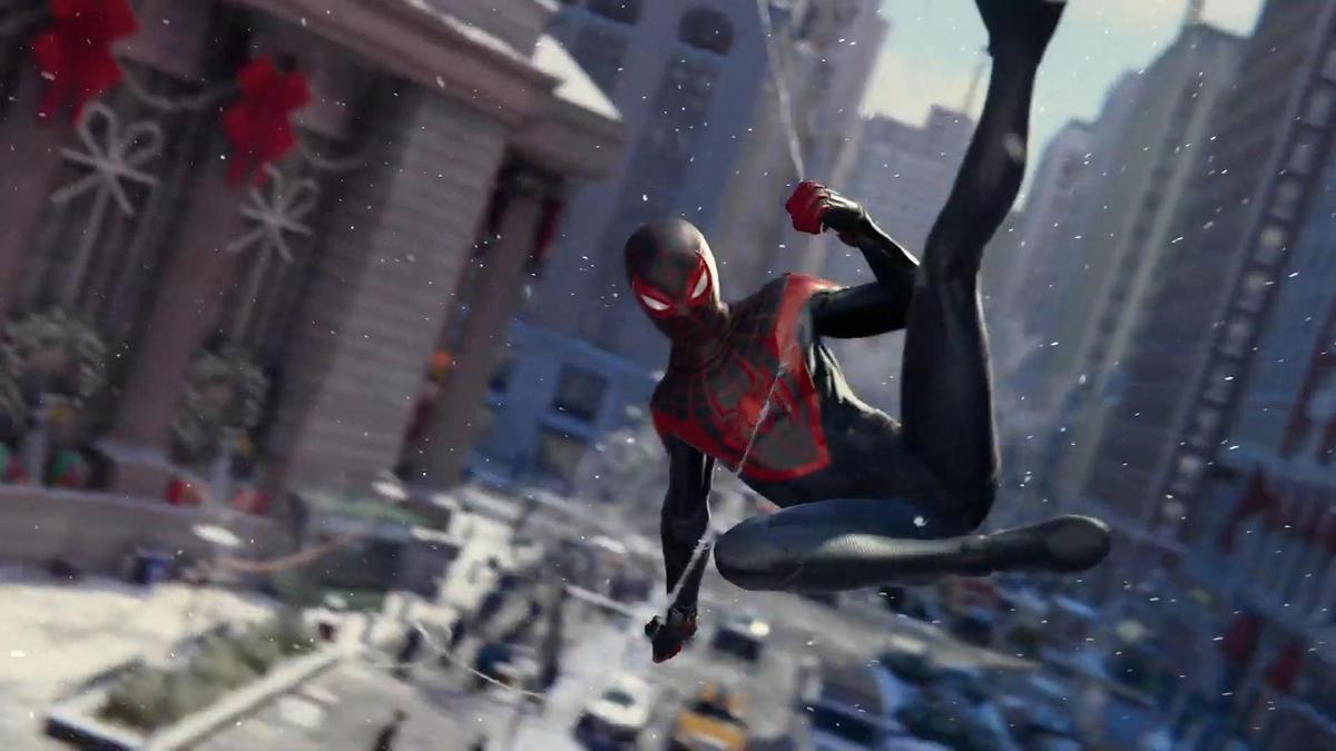 《漫威蜘蛛人》的主角邁爾斯。(圖片來源:直播截圖)