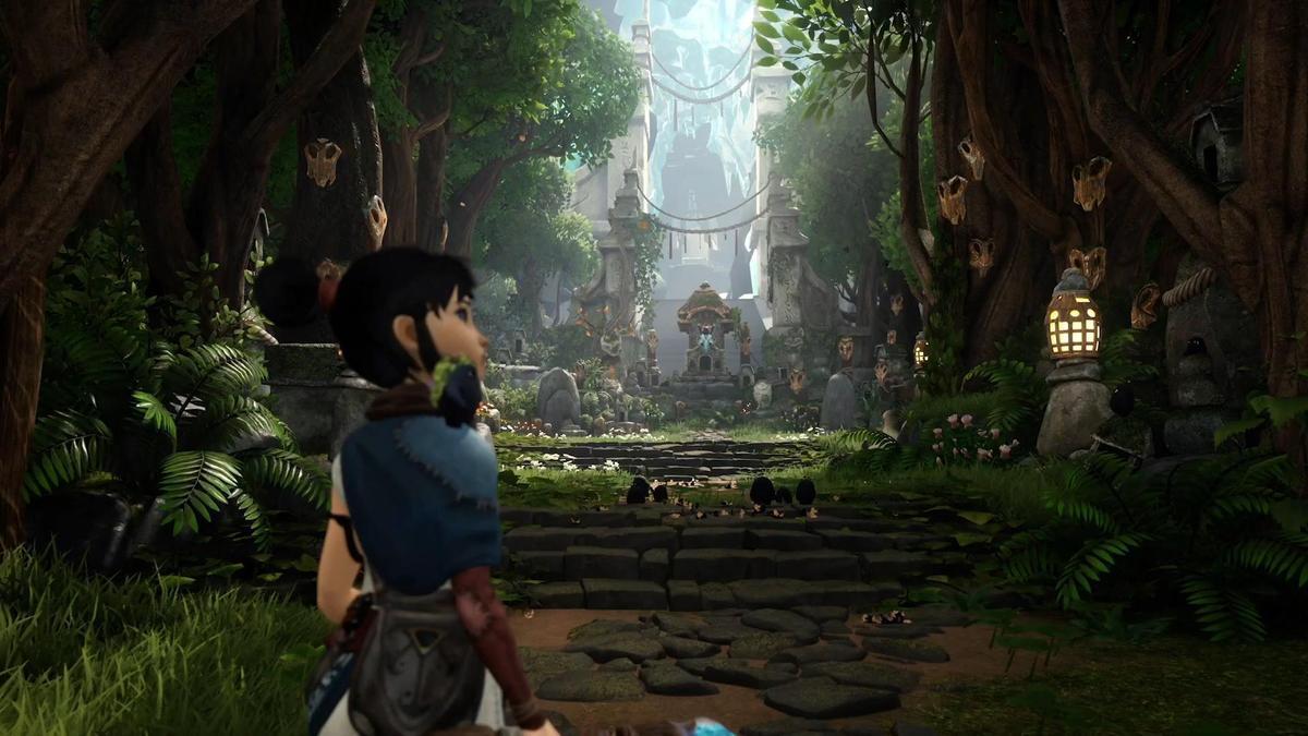 視覺表現相當令人驚嘆的《KENA:靈魂之橋》。(圖片來源:直播截圖)