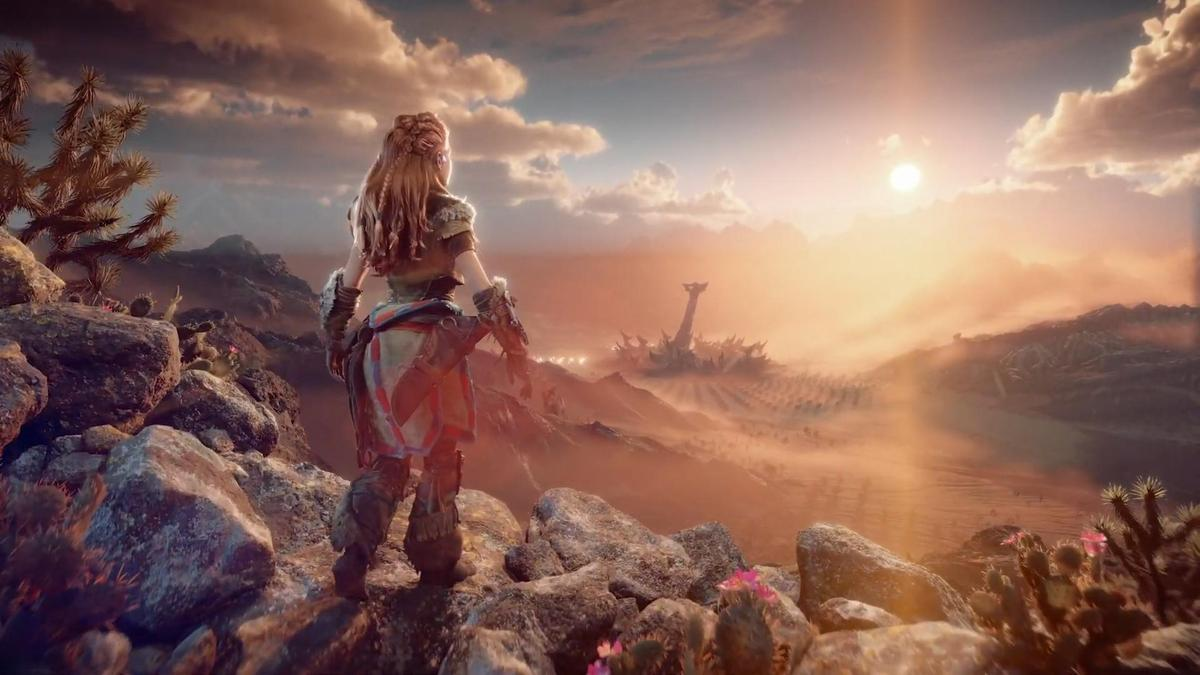 踏入《地平線:封印西域》展開全新的冒險。(圖片來源:直播截圖)