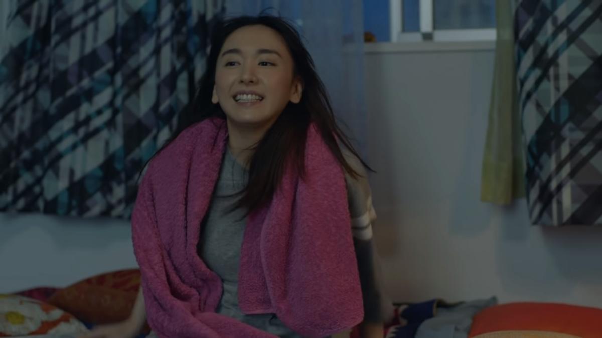 「對決篇」中,新垣結衣最後以洗完澡後的清爽造型現身(翻攝自Nintendo 公式チャンネル)