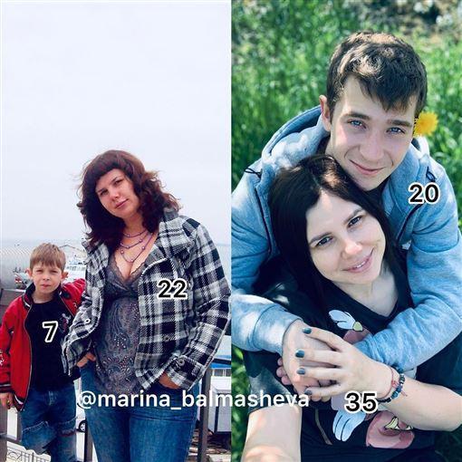 SOD劇情在現實生活中上演,繼母與繼子最後竟成為夫妻。(翻攝自IG marina_balmasheva)
