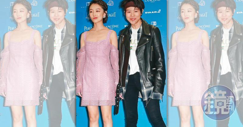 竇靖童(右)有意自己當導演,傳她本想找好友周冬雨(左)演出百合戀題材的女主角,卻遭對方婉拒。