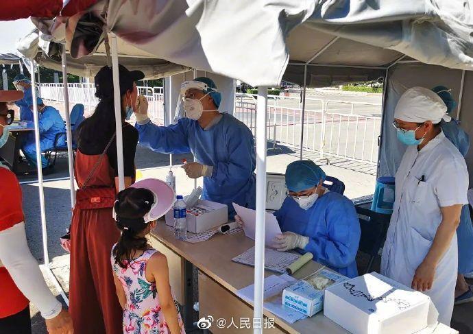 北京近日累計確診病例破百,當局嚴陣以待。(翻攝自人民日報微博)