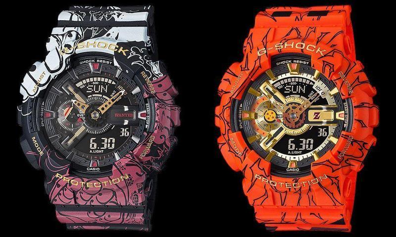 G-SHOCK推動漫聯名錶款,合作對象為《航海王》與《七龍珠Z》。(翻攝自G-SHOCK日本官網)