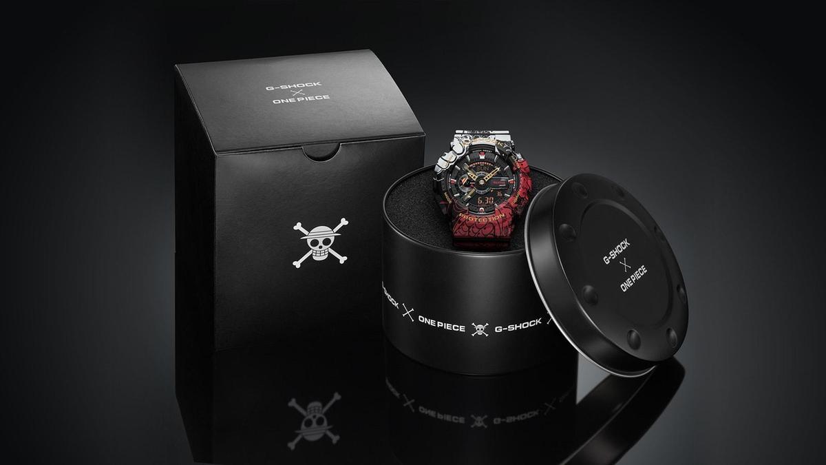 G-SHOCK與《航海王》聯名錶款。(翻攝自G-SHOCK日本官網)