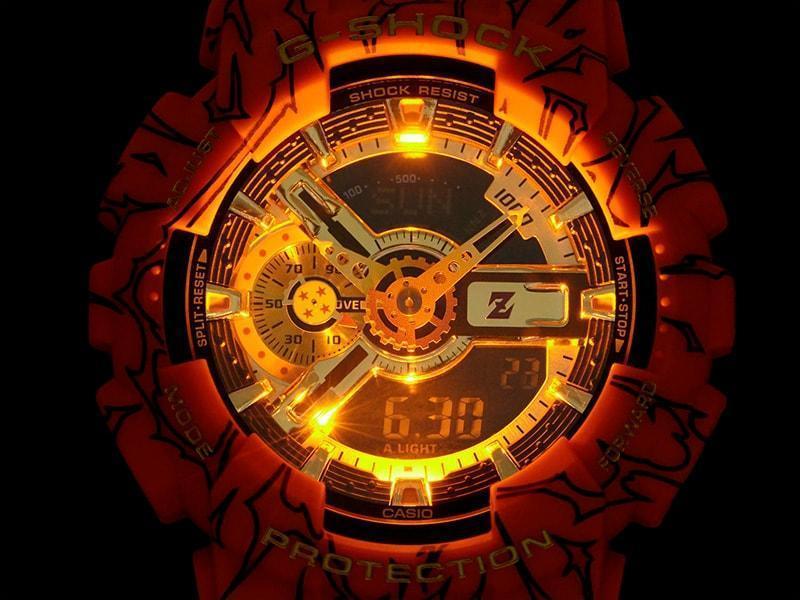 G-SHOCK與《七龍珠Z》聯名錶款。(翻攝自G-SHOCK日本官網)