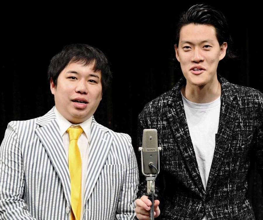 晟也(左)醜聞影響「霜降明星」的工作行程,今天原定的現場直播節目錄影也喊卡。(翻攝自每日體育報)