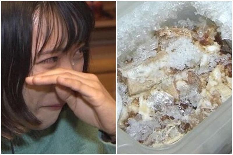 25歲的寶谷瑞希,因為思念也捨不得吃掉,因此把媽媽生前做的最後一道菜,冰在冷凍庫長達5年。(翻攝自日網)